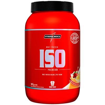 Whey Protein Isolado Integralmédica ISO Zero Carb -  Morango com Banana - 907g