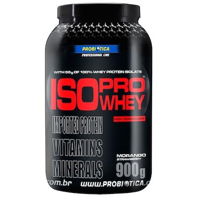 Isoprowhey - 900 g - Sabor Morango - Probiótica