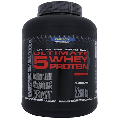 Whey Protein Ultimate 5 - 2,268  Kg - Sabor Chocolate – Probiótica