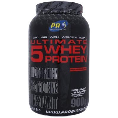 Whey Protein 5W Probiótica Ultimate 5 - Morango com Banana - 900g