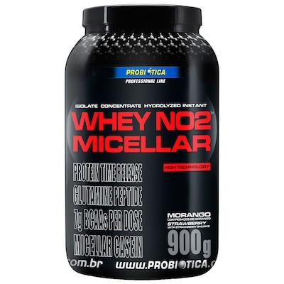 Whey Micellar Probiótica NO2 - Morango - 900g