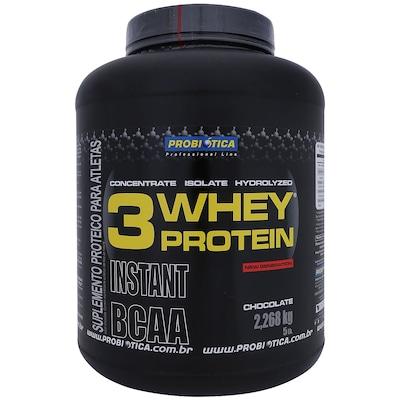 Whey Protein 3 - 2,268 Kg - Sabor Chocolate - Probiótica