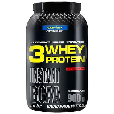 Whey Protein 3 Probiótica - 900g - Sabor Chocolate