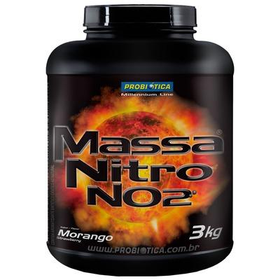 Massa Nitro NO2 - 3 kg - Sabor Morango - Probiótica
