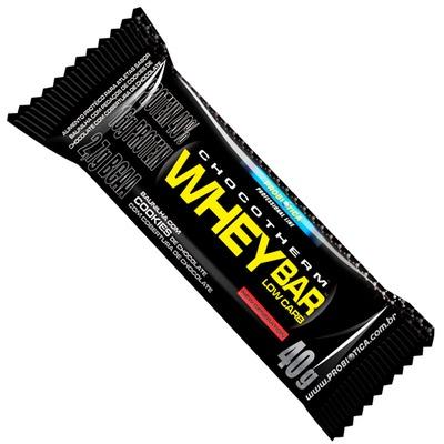 Whey Bar Low Carb - Caixa com 24 unidades - Sabor Cookies - Probiótica