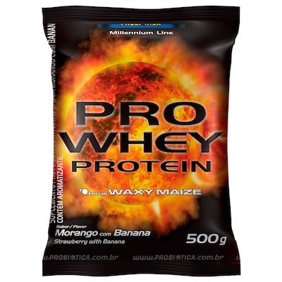 Whey Protein Probiótica Pro Whey - Morango com Banana - 500g