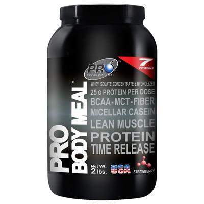 Whey Protein Pro Body Meal Probiótica - 908g - Sabor Morango