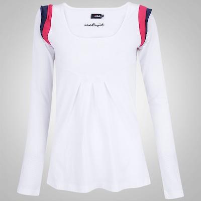 Camiseta Manga Longa Fila Flag - Feminina