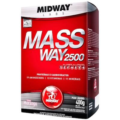Hipercalórico Midway Mass Way 2500 - Morango - 400g