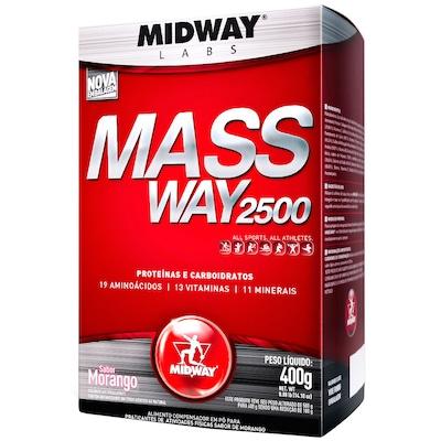 Hipercal Mass Way 3000 - 1 Kg -  Sabor Morango - Midway