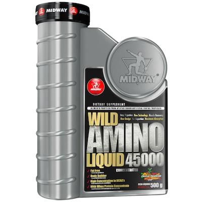 Aminoácido Midway Wild Amino Liquid 45000 - 500 g - Sabor Frutas Tropicais