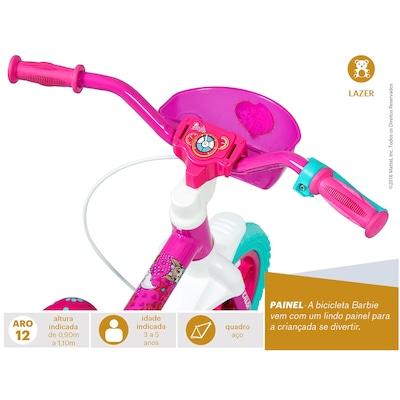 Bicicleta Caloi Barbie - Aro 12 - Freio a Tambor - Feminina - Infantil
