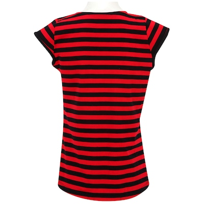 Camiseta Braziline Flamengo Navy Bata - Feminina