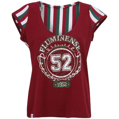 Camiseta Braziline Fluminense Navy Bata - Feminina