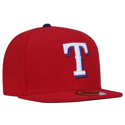 Boné Aba Reta New Era 59FIFTY Texas Rangers MLB Red - Fechado - Adulto