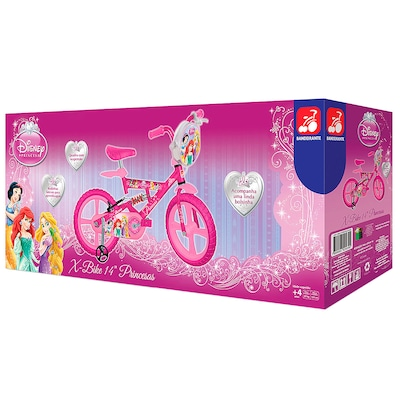 Bicicleta Bandeirante Princesa Disney - Aro 14 - Freio V-Brake - Feminina - Infantil