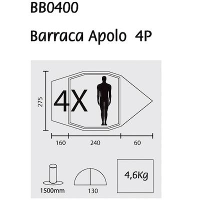 Barraca de Camping Guepardo Apolo - 4 Pessoas