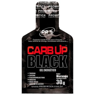 Energético Em Gel Carb Up Black – 30 g – Sabor Morango – Probiótica