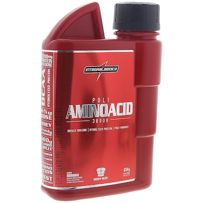 Aminoácido Integralmédica Poli Aminoacid 38000 - 600 ml - Morango