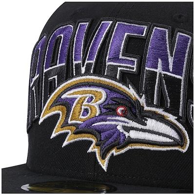 Boné Aba Reta New Era Baltimore Ravens - Fechado - Adulto