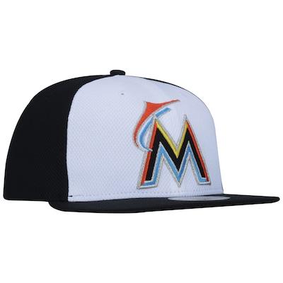 Boné Aba Reta New Era Miami Marlins MLB - Fechado - Adulto