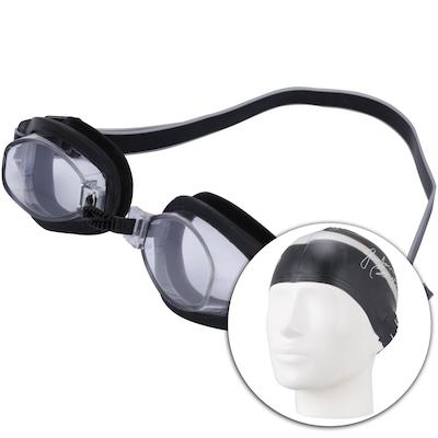 Kit de Natação Speedo Swim 3.0 com Óculos + Touca + Protetor de Ouvido - Adulto