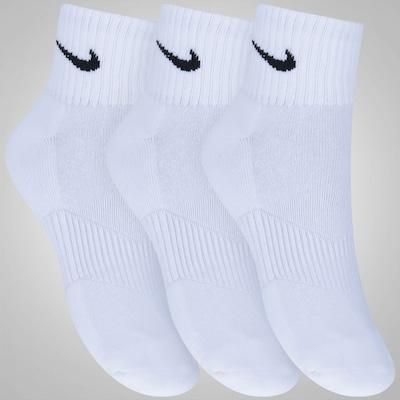 Kit de Meia Nike Swoosh Cano Médio com 3 Pares - Adulto