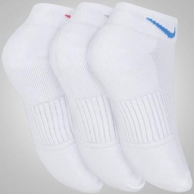 Kit de Meias Cano Baixo Nike Swoosh com 3 Pares - Feminino