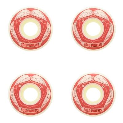Rodas de Skate Solo Decks Red Wheels - 52mm - 4 Unidades