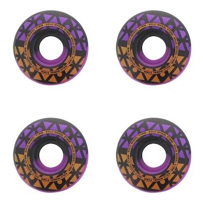 Rodas de Skate Solo Decks Purple Black - 51mm - 4 Unidades