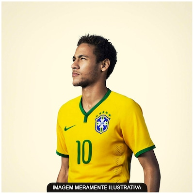 Camisa  do Brasil Amarela Nike Torcedor 2014 s/n° -  Juvenil