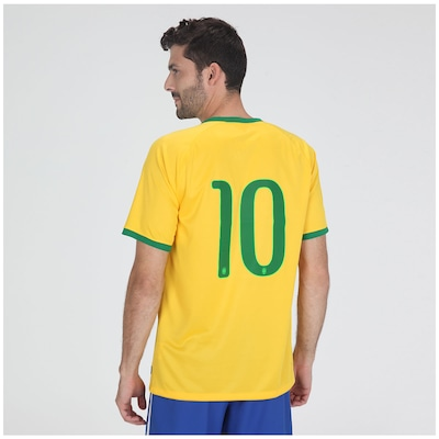Camisa do Brasil Amarela Nike Torcedor 2014 n° 10 - Masculina