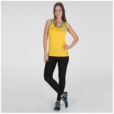 Camiseta Regata Nike Brasil 2014 – Feminina