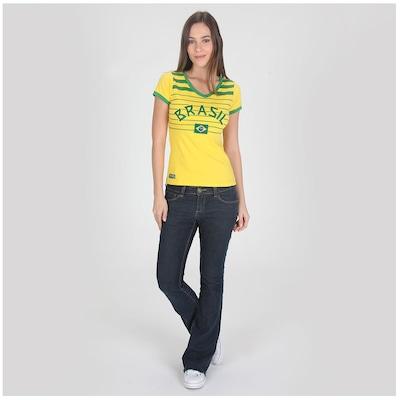 Camiseta Braziline Brasil Listras – Feminina