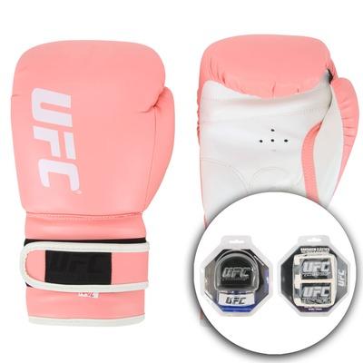 Kit de Boxe UFC Com Luva 14OZ Bandagem e Protetor Bucal Req 123