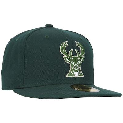 Boné Aba Reta New Era Milwaukee Bucks - Fechado - Adulto
