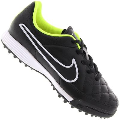 Chuteira Society Nike Tiempo Genio Leather TF - Infantil