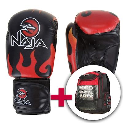 Kit de Boxe - Luva e Mochila Naja Fire 12 OZ
