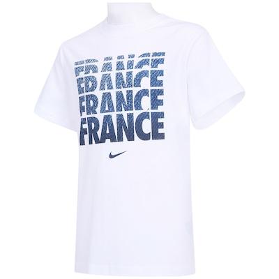 Camiseta Nike França Blockbuster - Infantil