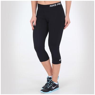Calça Capri de Suave Compressão Nike Pro - Feminina