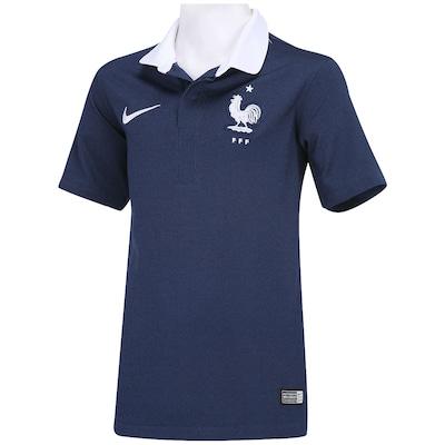 Camisa Infantil Nike Seleção França I s/n 2014 - Torcedor