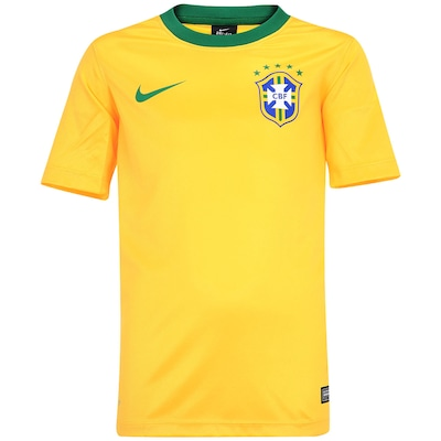 Camisa do Brasil Amarela Nike Seguidor - Infantil