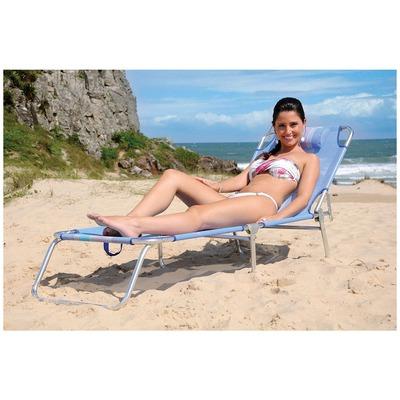 Cadeira Espreguiçadeira de Praia e Piscina Mor Alumínio