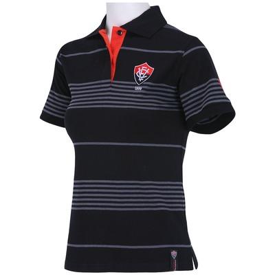 Camisa Polo do Vitória Listrada - Feminina
