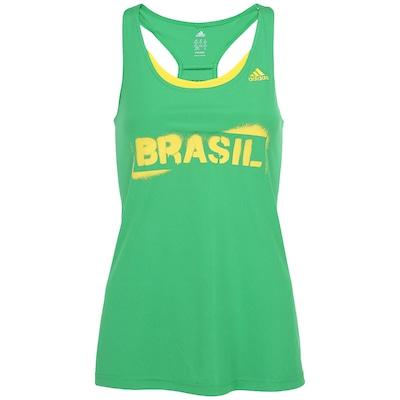 Camiseta Regata adidas Copa do Mundo 2014 Brasil - Feminina