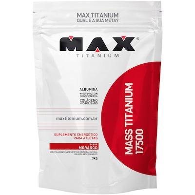 Mass Titanium 17500 3Kg - Morango - Max Titanium