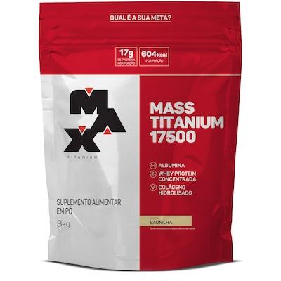 Mass Titanium 17500 - 3 Kg - Sabor Baunilha - Max Titanium