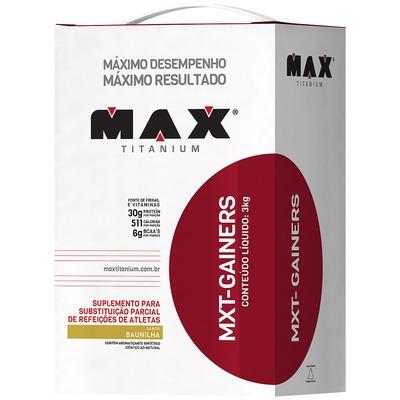 Hipercalórico Max Titanium MXT Gainers - Baunilha - 3Kg