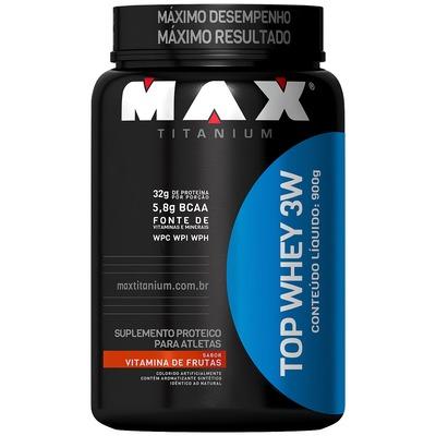Whey Protein 3W Max Titanium Top Whey 3W - Vitamina de Frutas - 900g