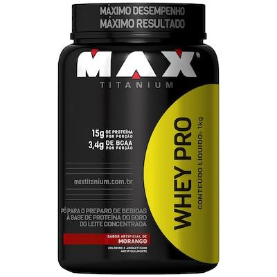 Whey Protein Max Titanium Whey Pro - Morango - 1Kg